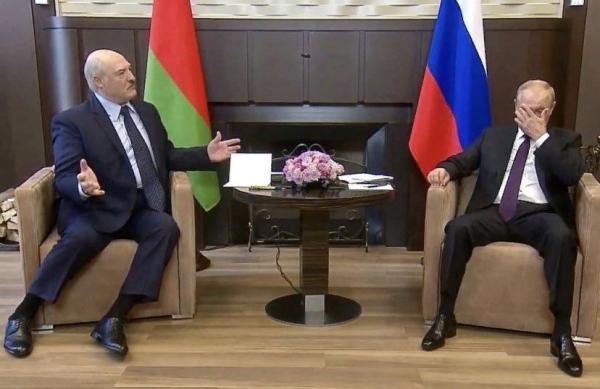 Путин и Лукашенко встретились и стали мемом
