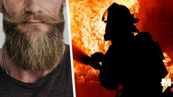 Пожарный показал, как тушить огонь паром, но пламя в сердцах людей уже не погасить. Они влюбились в усы героя