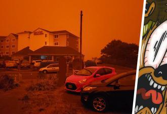 Сан-Франциско окрасился в оранжевый цвет, но люди не грустят. Они пилят мемы и вспоминают «Бегущего по лезвию»