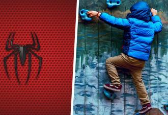 Найден самый маленький Человек-паук. Он ещё не умеет разговаривать, но его видео со скалодрома поражают людей