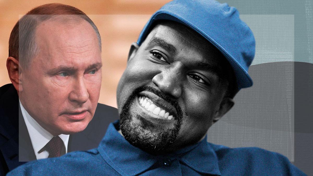 Канье Уэст внезапно запостил фото Владимира Путина. Вопросов у фанатов Йе не меньше, чем шуток