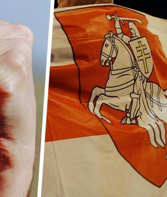 Люди подумали, что мужчина из отряда «титушек» в Беларуси россиянин. И поняли слова Владимира Путина о резерве