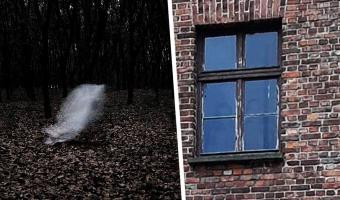 Парень изучал фото Освенцима и заметил в окне силуэты узников. Это не фотошоп — увидеть призраков может каждый