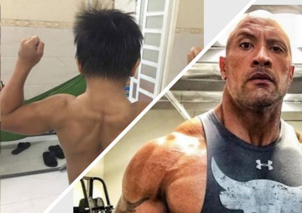 Десятилетка поражает мышцами как у Скалы, но не качался ни дня. Он живой азиатский Супермен (и это диагноз)