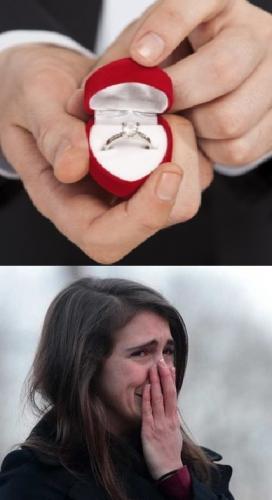 Парень решил жениться на невесте, но она опередила его признанием. Узнав секрет девушки, жених спрятал кольцо