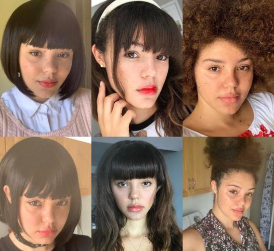 Как только девушка делает причёску, меняется её национальность. С таким лицом она может жить в шести странах