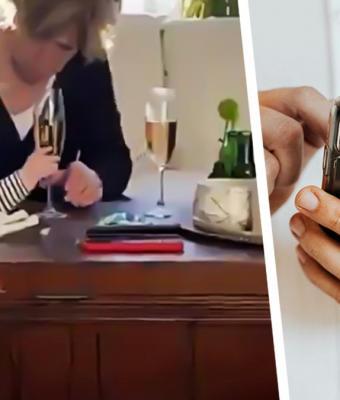 Бабушка увидела шампанское в руках малыша за миг до падения. И сделала выбор, который одобрили все (ну, почти)
