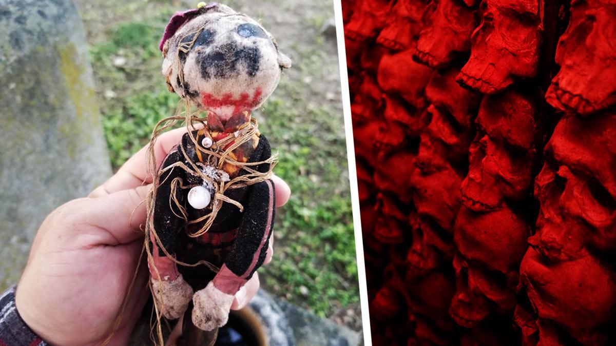 Парень нашёл у могилы самодельную куклу с запиской. Люди перевели её, и у них плохие новости: он в опасности