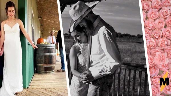 Невеста взяла мужчину за руку вслепую - и это был не её жених. Теперь свадебные фото испорчены слезами счастья