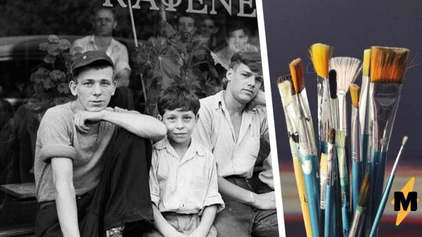 Мужчина окрасил фото из 1938 года, и оно стало головоломкой. На снимке спряталась собака - попробуйте её найти
