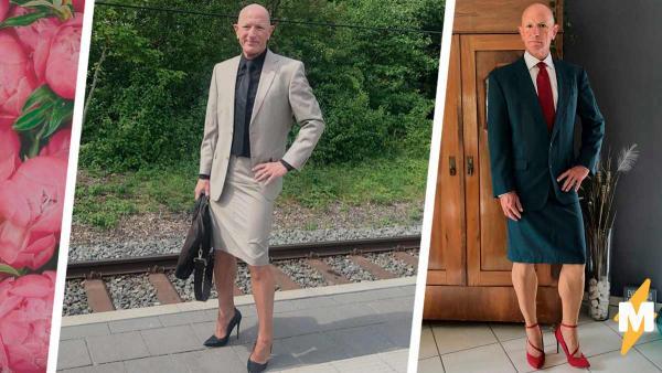 Мужчина носит юбки и каблуки и радуется жизни. Он - обычный гетеросексуал, а его стиль покоряет все гендеры