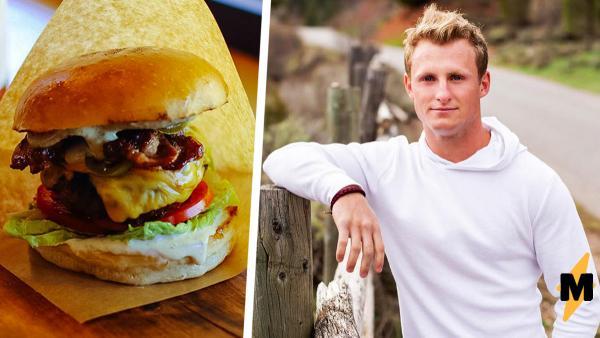 Блогер отведал бургер, и его язык стал размером с блюдо. Бесплатной пластике он обязан секретному ингредиенту
