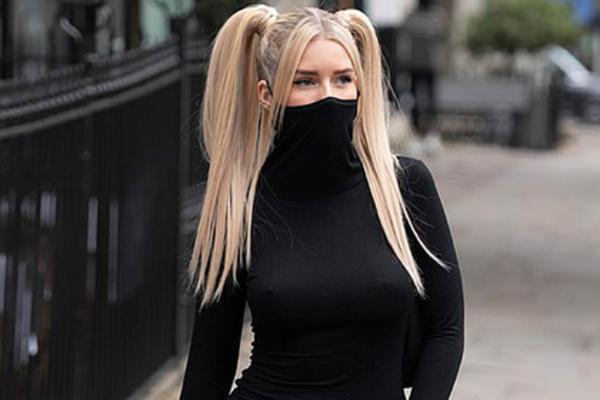 Девушка показала фото платья со встроенной маской, но люди злы. Они уверены: обновка не защитит от пандемии