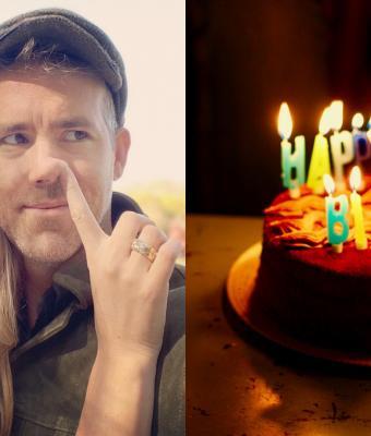 Именинник Райан Рейнольдс наелся пирога и шуток от жены. Это не пранк, а любовь, и люди хотят такой же брак