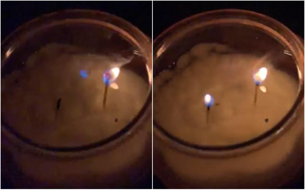 Парень показал самовозгорающуюся свечу, и это тру-делюминатор Дамблдора. Просто наука может не хуже Хогварстса