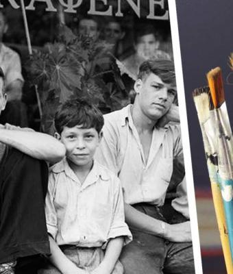 Мужчина окрасил фото из 1938 года, и оно стало головоломкой. На снимке спряталась собака — попробуйте её найти