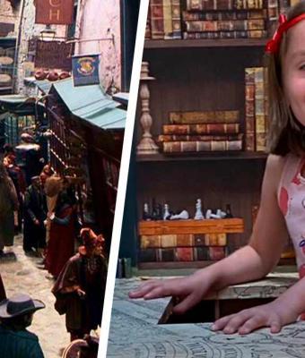 Девочка нашла в шкафу портал, но не в Нарнию, а на Косую Аллею. Её папа оказался магом покруче Гриндевальда