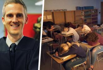Школьники обожают учителя и рвутся на его занятия. Его секрет прост: главная задача на уроке — спать за партой