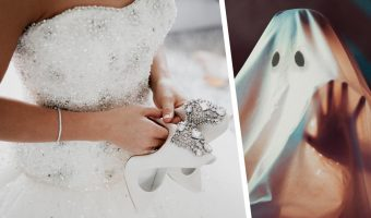 Девушка сохранила свадебное платье на память, но люди сочли: это крипово. Фото наряда достойно фильма ужасов