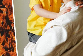 Мама посадила дочь на шею, а после не узнала своё лицо. Стоило перед этим выяснить, что девочка трогала руками