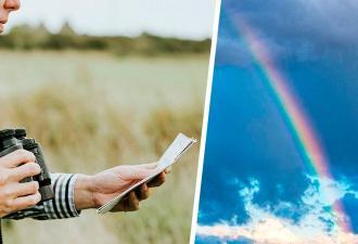 Парень вышел погулять и нашёл начало радуги. Люди наконец-то увидели, где лепреконы держат горшочки с золотом