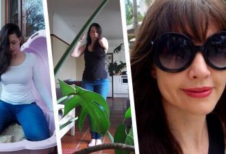 Женщина не поехала в отпуск, но фоткам — быть. Они сделаны дома, и это лучший пример «ожидание vs реальность»