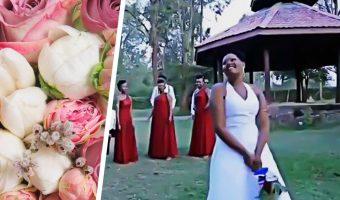 Невеста хотела бросить букет подружкам, но сломала традицию. И девушки в ярости от видео с её свадьбы