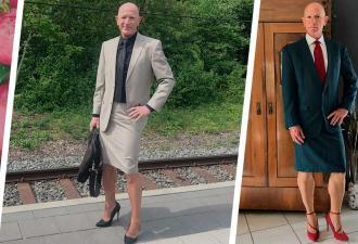 Мужчина носит юбки и каблуки и радуется жизни. Он — обычный гетеросексуал, а его стиль покоряет все гендеры