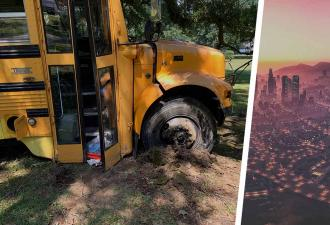Мальчик угнал автобус и показал GTA на минималках. СиДжей ещё никогда не был таким маленьким (и дерзким)