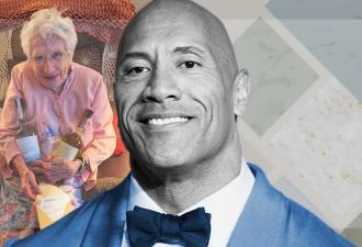 Дуэйн Джонсон подарил 101-летней фанатке две бутылки текилы. Но вместо милоты люди видят злой умысел Скалы