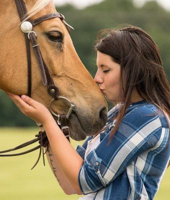 Что будет, если изобразить плач рядом с лошадью. Девушка проверила и показала: кони умнее, чем мы думаем