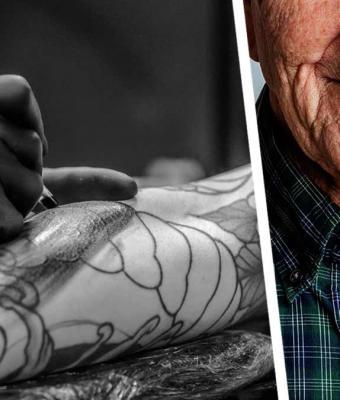 Сын поверил, что отец умеет делать татуировки. Увидев результат, он пожалел, что рисунок с ним на всю жизнь