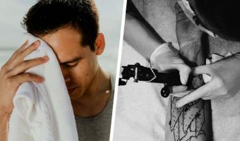 Мужчина перебрал лишнего и очнулся с новой тату на лбу. Увидев, что написали друзья, бедняга побежал в полицию