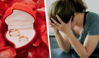 Невеста годами мечтала о свадьбе, но передумала прямо во время помолвки. Хватило одного взгляда на кольцо
