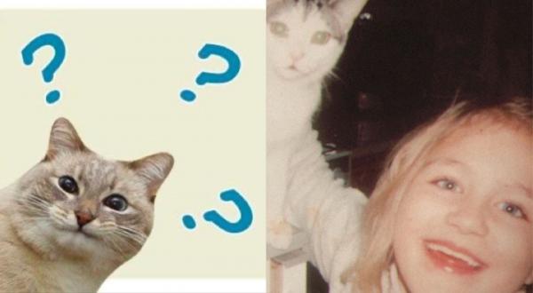 Девушка повторила фото с питомицей спустя 20 лет. А люди уверены - подпись к снимку сделала сама кошка