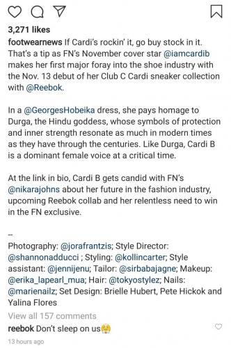 Карди Би превратилась в многорукую богиню с кроссовком Reebok. Было эффектно, пока фото не увидели индийцы