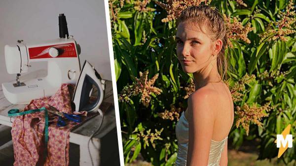 Школьница сшила дико красивое платье и помогла этим природе. Экзотический наряд - единственный в своём роде