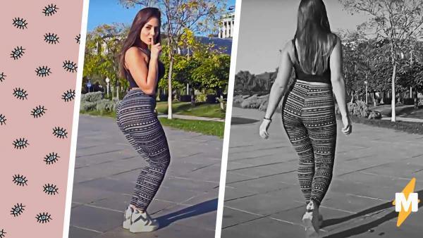 Девушка надела облегающие лосины и сняла реакцию на видео. И люди удивлены – не формами, а реакцией женщин