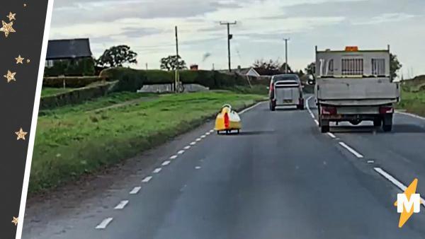 Этот жёлтый неопознанный малыш на колёсах заставил автомобилистов Рила поверить в сверхъестественное
