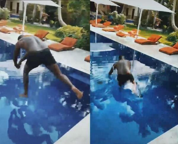 Рэпер Дидди показал, как круто (нет) он ныряет в бассейн. Громче плюха были только тролль-мемы от фанатов