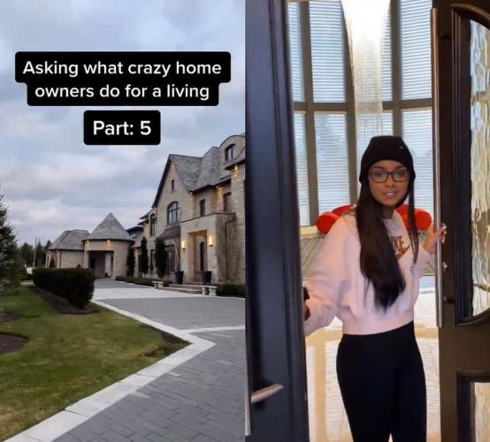 Парень узнаёт у жителей роскошных домов, где они работают. И ответы богачей - повод призадуматься и удивиться
