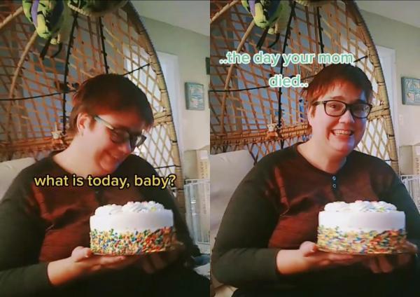 Блогерша так поздравила свою девушку с годовщиной смерти мамы, что выбесила/влюбила люедй в себя. Её посление на десерте