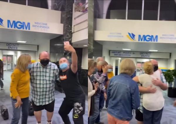 Племянница встретила дядю в аэропорту так, что все подумали — он селеба.