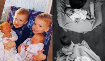 Родители произвели на свет два набора двойняшек и сломали людей. Они верят: в семье родились четыре близнеца