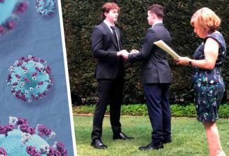 Два друга взломали реальность и вышли замуж друг за друга. Они не геи, и причина их свадьбы — COVID-19