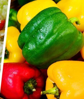 Салат из необычных овощей похож на еду людоеда. Никто и не знал, что перцы бывают такого цвета
