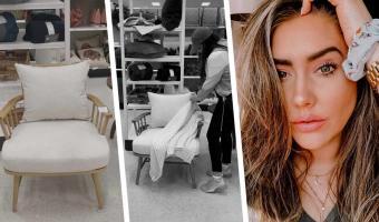 Блогерша украсила кресло в магазине мебели, но нарвалась на хейт. Люди верят: её работа лишь навредила другим