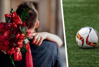 Жених сбежал со свадьбы, чтобы сыграть в футбол. Но развода не будет — невеста помчалась на поле за ним