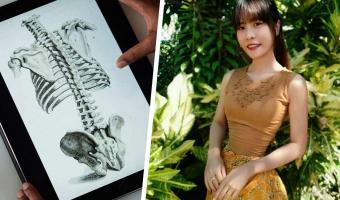 Художница показала, как бы выглядели скелеты инстаблогерш в реальности. Но люди защищают сломанную анатомию