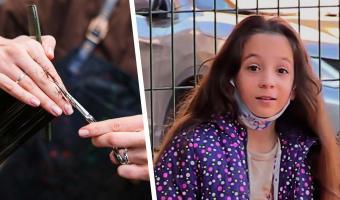 Девочка годами растила косу как у Рапунцель и сама состригла. Отказ от мечты сделал её героиней в реальности